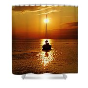 Pamlico Sound Sunset 2 7/26 Shower Curtain