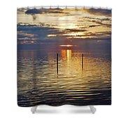 Pamlico Sound Sunset 3 12/5 Shower Curtain