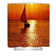 Pamlico Sound Sunset 3 7/26 Shower Curtain
