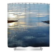 Pamlico Sound Sunset Reflection 7 12/5 Shower Curtain