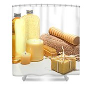 Pampering Kit Shower Curtain