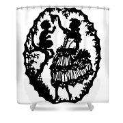 Pan And The Maiden Shower Curtain