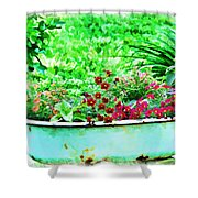 Pan Full Of Color  Digital Paint Shower Curtain