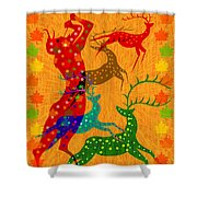 Pan Leads The Dance Shower Curtain