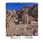 Panaca Formations In Cathedral Gorge State Park Nevada Shower Curtain
