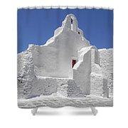 Panagia Paraportiani Church Of Mykonos Shower Curtain