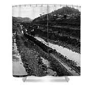 Panama Canal, 1908 Shower Curtain