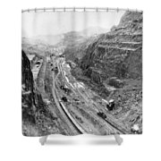 Panama Canal, 1913 Shower Curtain