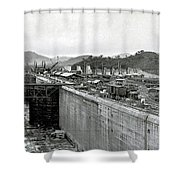 Panama Canal Construction 1910 Shower Curtain
