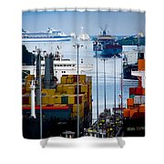 Panama Canal Express Shower Curtain