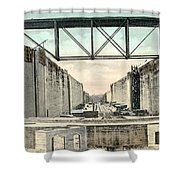 Panama Canal Locks Shower Curtain