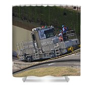 Panama Canal Towing Vehicle 1 Shower Curtain