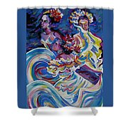 Panama Carnival. Folk Dancers Shower Curtain