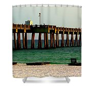 Panama City Beach Pier 2  Shower Curtain
