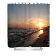 Panama City Beach Sunset Shower Curtain