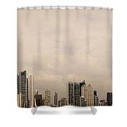 Panama City Skyline Shower Curtain
