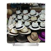 Panama Hats In Ecuador Shower Curtain