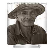 Panamanian Country Man Shower Curtain