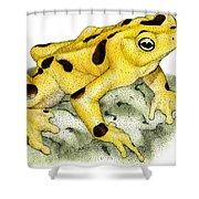 Panamanian Golden Frog Shower Curtain