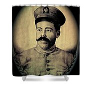 Pancho Villa In Military Uniform Drawing No  Date-2013  Shower Curtain