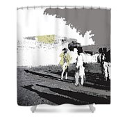 Pancho Villa Talking To Firing Squad Sonora C.1914-2013 Shower Curtain