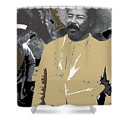 Pancho Villa  Wearing Sombrero Unknown Location 1914-1920-2013 Shower Curtain