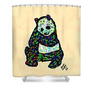 Panda A La Fauvism Shower Curtain