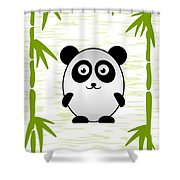 Panda - Animals - Art For Kids Shower Curtain