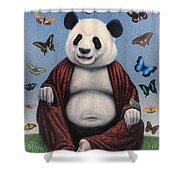 Panda Buddha Shower Curtain