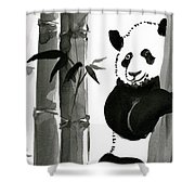 Panda Papa Bear Shower Curtain
