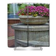 Sample Paneled Concrete Flower Pot Shower Curtain
