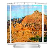Panels Of A Canyon Shower Curtain