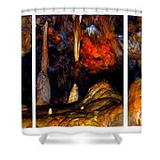 Panels Of A Cave Shower Curtain