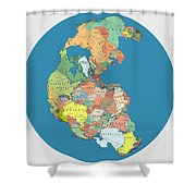 Pangaea Politica By Massimo Pietrobon Shower Curtain
