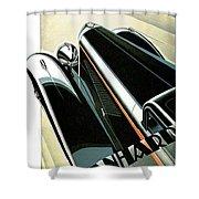 Panhard Car Advertisement Shower Curtain