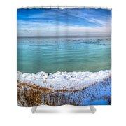 Panning Lake Michigan Shower Curtain