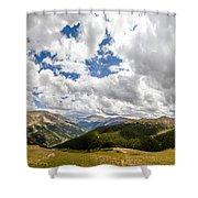 Panorama Atop Independence Pass Shower Curtain