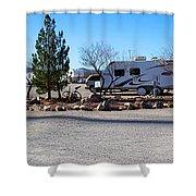 Panorama Cedar Cove Rv Park Street 2 Shower Curtain
