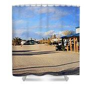 Panorama Cedar Cove Rv Park Street 3 Shower Curtain