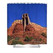 Panorama Chapel Of The Holy Cross Sedona Az Shower Curtain