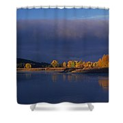 Panorama Clearing Storm Oxbow Bend Grand Tetons National Park Wyoming Shower Curtain