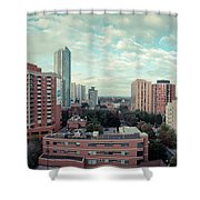 Panorama-dt-toronto Looking East Shower Curtain