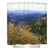 Panorama Emory Pass Vista Nm Shower Curtain