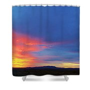Panorama Fire In The Sky Sunset Shower Curtain