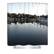 Panorama Harbor 02 Shower Curtain