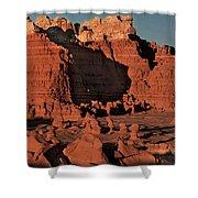 Panorama Hoodoos Goblin Valley Utah Shower Curtain