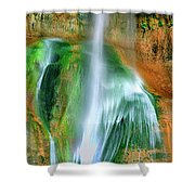 Panorama Lower Calf Creek Falls Escalante Nm Utah Shower Curtain