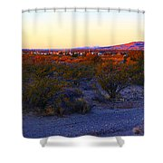 Panorama Morning View Of Mountains Shower Curtain