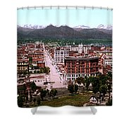 Panorama Of Denver Shower Curtain by Georgia Fowler