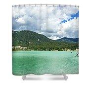 Panorama Of Green Lake, Whistler Shower Curtain
